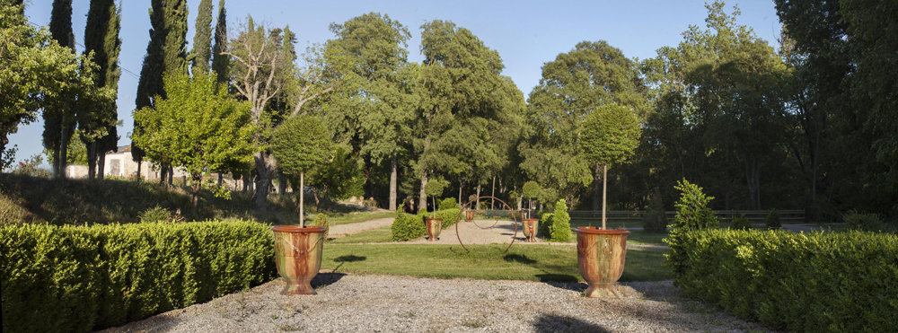 Jardin à la française au Domaine de Rieussec