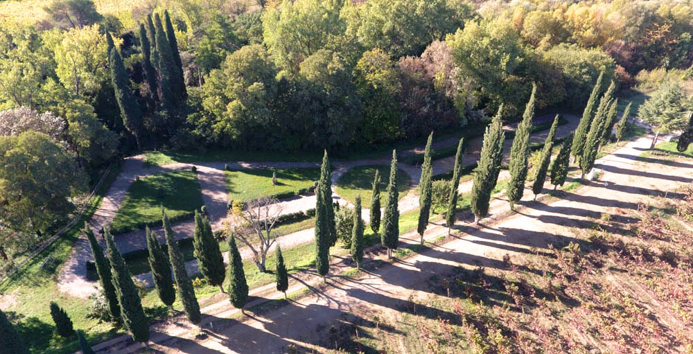Visite des jardins du Domaine de Rieussec à Gignac