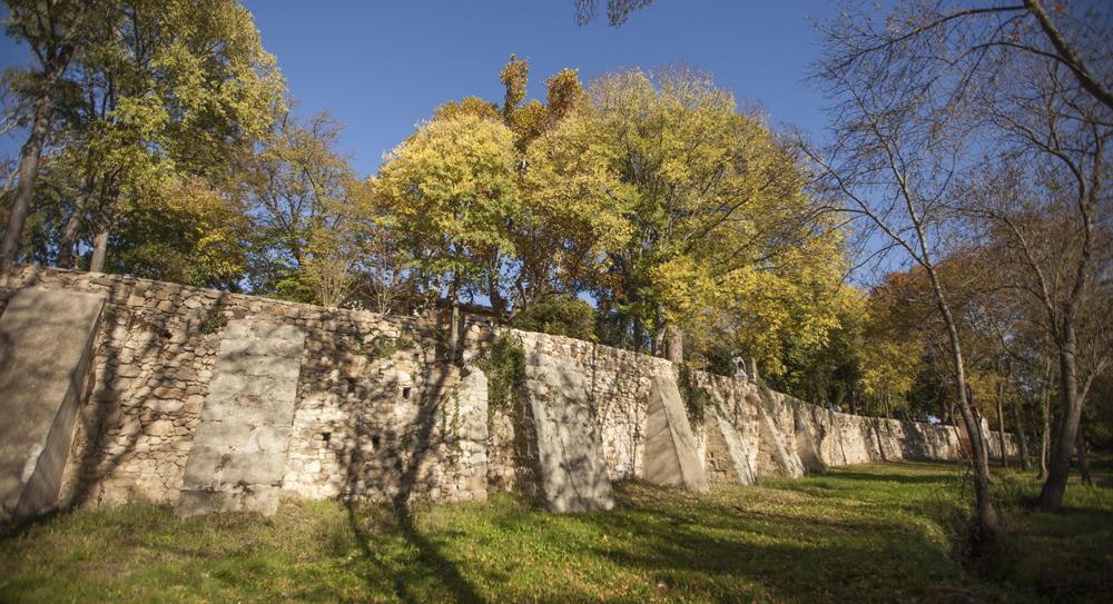 mur terrasses jardin de Rieussec