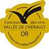 Médaille d'or concours des vins de la Vallée de l'Hérault
