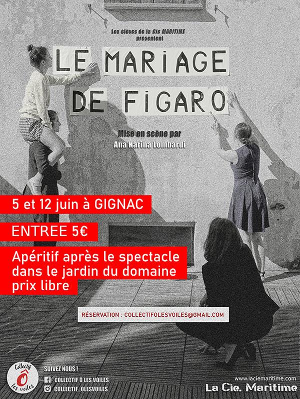 Théâtre à Rieussec : Le mariage de Figaro - juin 2021